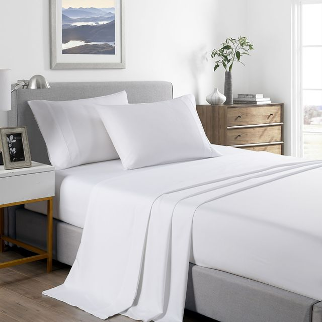 (QUEEN) Royal Comfort 2000 Thread Count Bamboo Cooling Sheet Set Ultra Soft Bedding - White