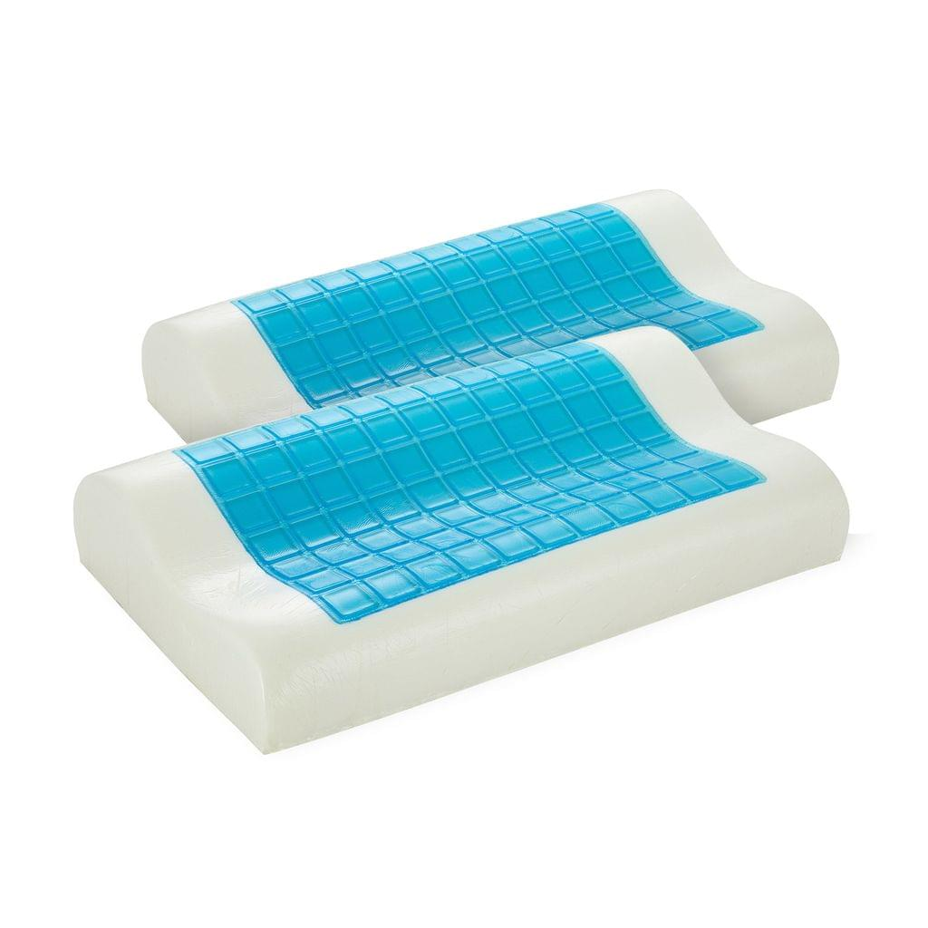 Royal Comfort Cooling Gel Contour High Density Memory Foam Pillow Twin Pack