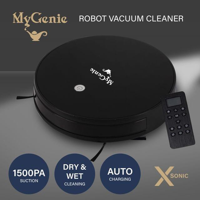 MyGenie XSonic Robotic Vacuum Cleaner Carpet Floors Dry Wet Mopping Auto Robot