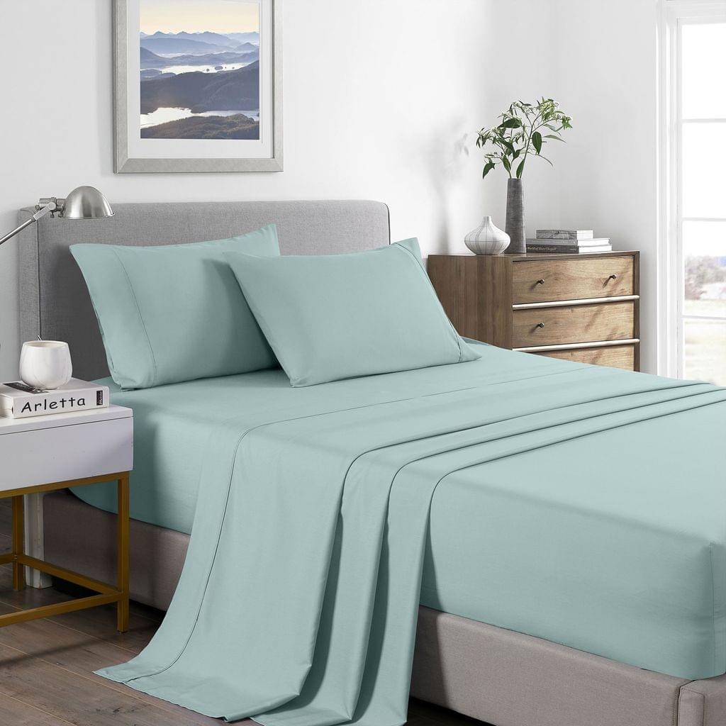 (SINGLE) Royal Comfort 2000 Thread Count Bamboo Cooling Sheet Set Ultra Soft Bedding - Frost