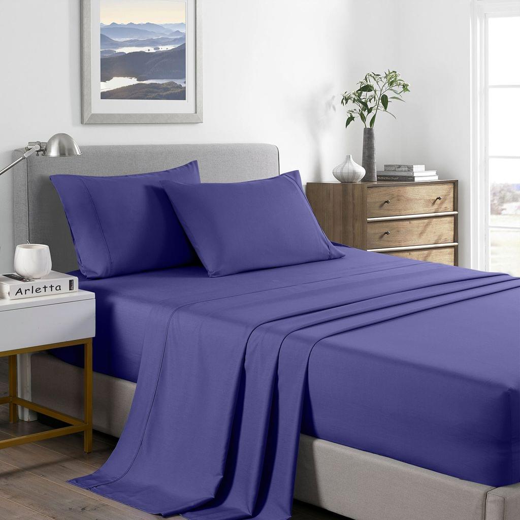 (KING SINGLE) Royal Comfort 2000 Thread Count Bamboo Cooling Sheet Set Ultra Soft Bedding - Royal Blue