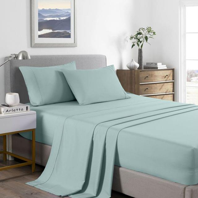 (KING) Royal Comfort 2000 Thread Count Bamboo Cooling Sheet Set Ultra Soft Bedding  - Frost
