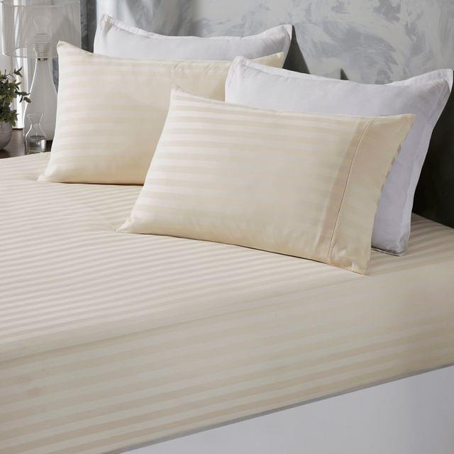 (DOUBLE) Royal Comfort 1200 Thread Count Damask Cotton Blend 3 Piece Combo Sheet Set - Pebble