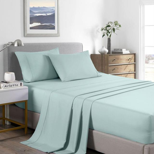 (DOUBLE) Casa Decor 2000 Thread Count Bamboo Cooling Sheet Set Ultra Soft Bedding  - Frost