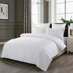 (SINGLE)Royal Comfort 100% Silk Filled Eco-Lux Quilt 300GSM With 100% Cotton Cover - Single - White