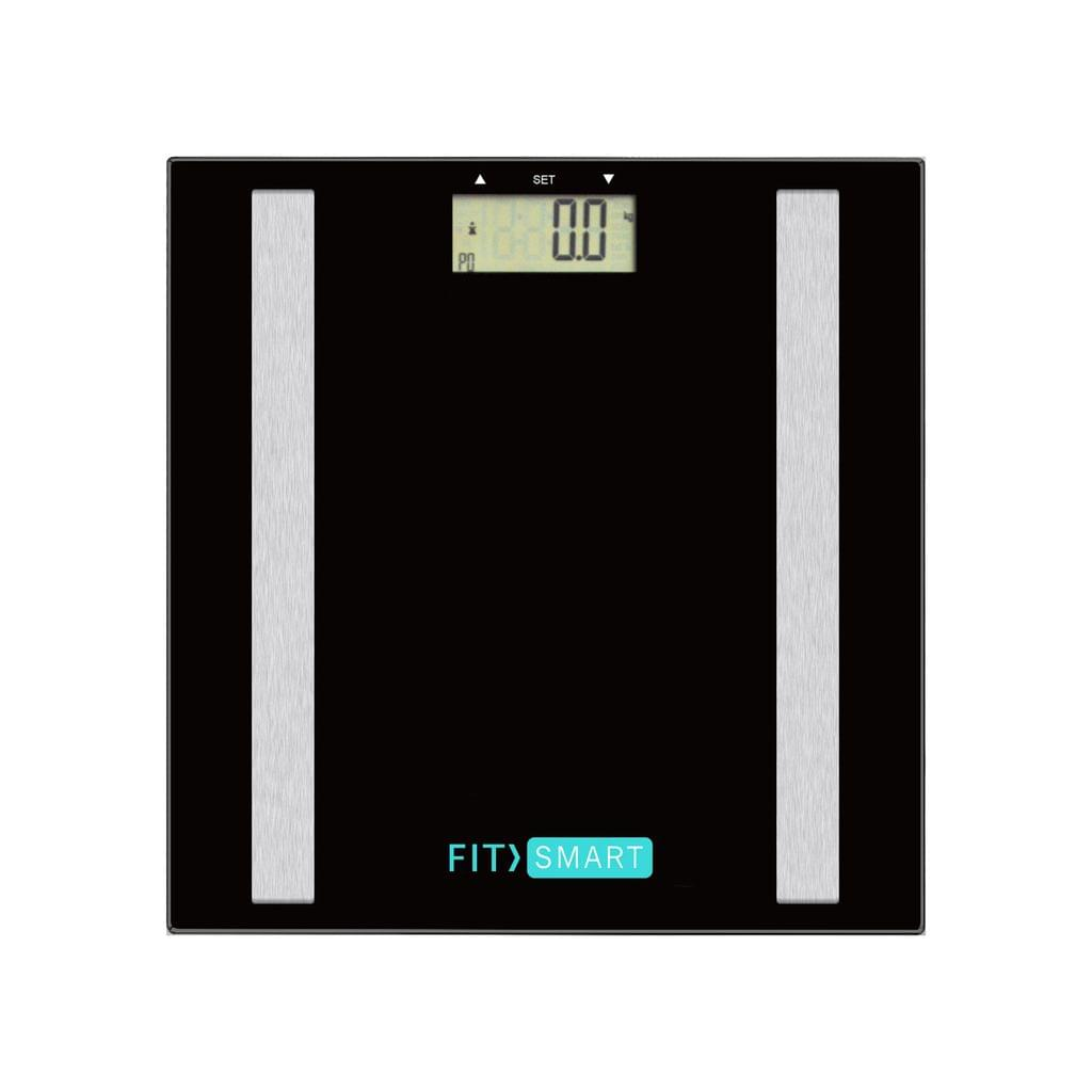 Fit Smart Electronic Body Fat Scale Black 7 in 1 Body Analyser LCD Glass Tracker