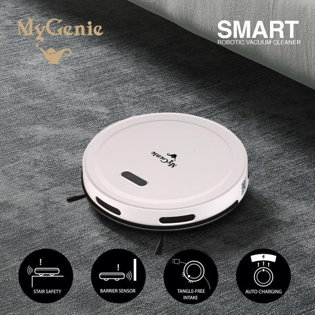 MyGenie Smart Robotic Vacuum Cleaner App Controlled Carpet Floors Auto Robot