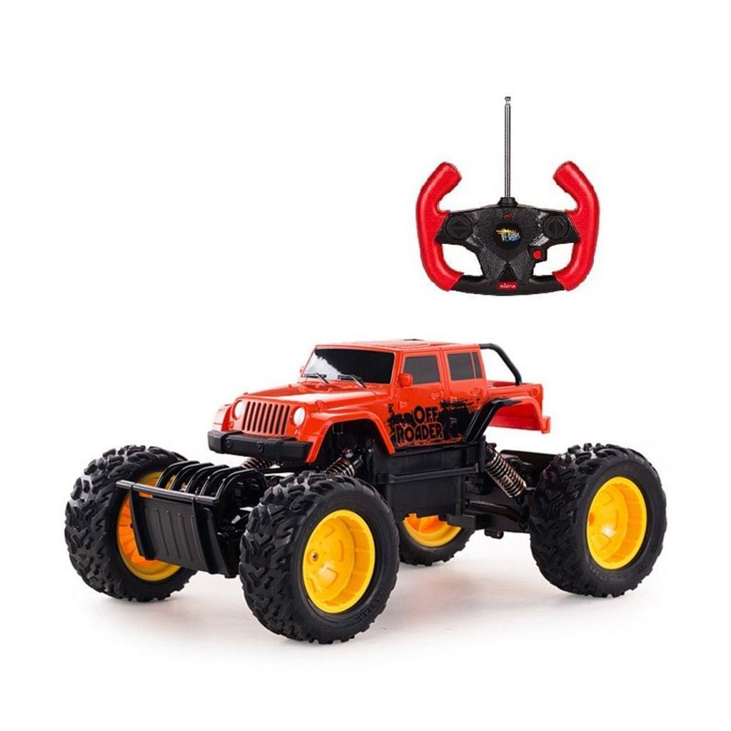 Remote Control Off Roader Rock Crawler 1:18 Scale Orange Brand New Radio Remote
