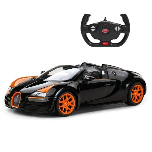 Remote Control Bugatti Grandsport Vitesse 1:14 Scale Black Brand New Sports Car