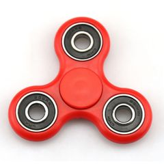 Fidget Spinner Premium Quality Trispinner Bearings ADD ADHD Stress Reducer - Red
