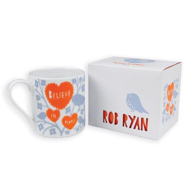 Rob Ryan Designer Mug Believe in People Contemporary Inspirational Design