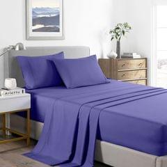 (KING) Casa Decor 2000 Thread Count Bamboo Cooling Sheet Set Ultra Soft Bedding - Royal Blue