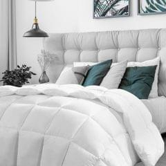 (SINGLE)Casa Decor Silk Touch Quilt 360GSM All Seasons Antibacterial Hypoallergenic - Single - White