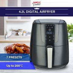Kitchen Couture 4.2 Litre Air Fryer Digital Display Black 1400W Healthy Cooker