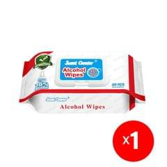 1 Pack (60 Pieces) Wipes 75% Alcohol Hand Surface Use