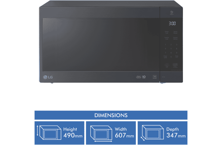 56L Inverter Microwave 1200W Touch Control - Matte Black