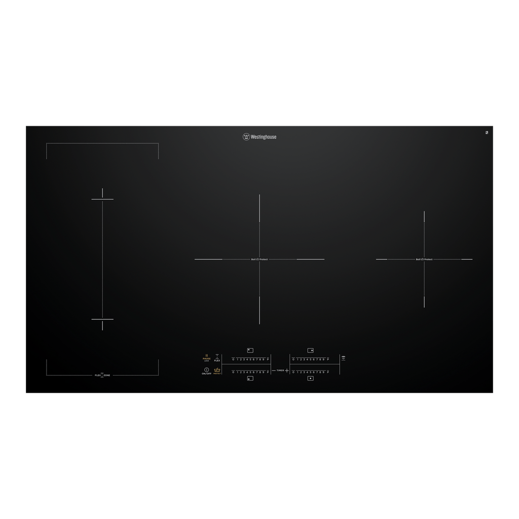 90cm 4 Zone Induction Cooktop w Boil-Protect