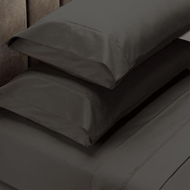 (DOUBLE)Royal Comfort 1500 Thread Count Cotton Rich Sheet Set 4 Piece Ultra Soft Bedding - Double - Dusk Grey