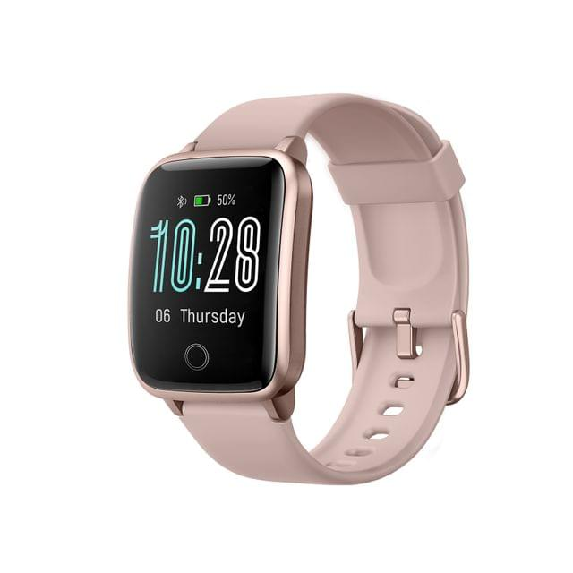 FitSmart Smart Watch Bluetooth Heart Rate Monitor Waterproof LCD Touch Screen - Rose Gold