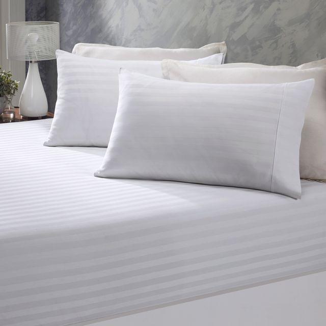 Royal Comfort 1200 Thread Count Damask Cotton Blend 3 Piece Combo Sheet Set - Double - White