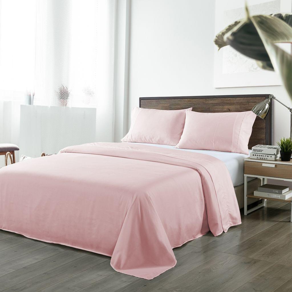 (QUEEN)Royal Comfort Bamboo Blended Sheet & Pillowcases Set 1000TC Ultra Soft Bedding - Queen - Bubble Bath