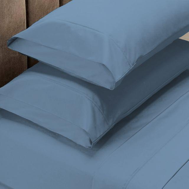 (DOUBLE)Royal Comfort 1500 Thread Count Cotton Rich Sheet Set 4 Piece Ultra Soft Bedding - Double - Indigo