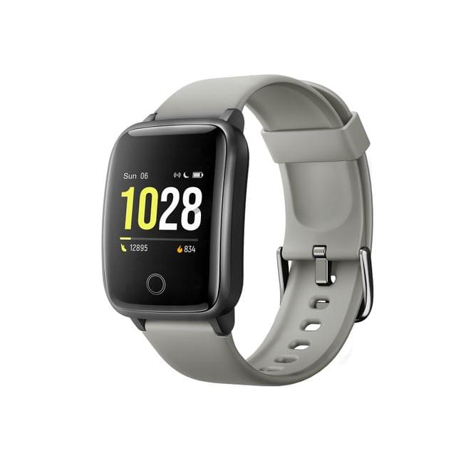 FitSmart Smart Watch Bluetooth Heart Rate Monitor Waterproof LCD Touch Screen - Silver Grey