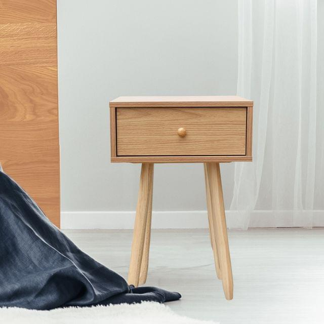 Milano Decor Bedside Table Kirrawee Drawers Nightstand Unit Cabinet Storage