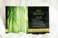 Royal Comfort Bamboo Quilt 350GSM Luxury Hotel Feel All Seasons Boxed - Single - White