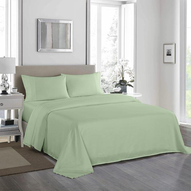 (QUEEN)Royal Comfort 1200 Thread Count Sheet Set 4 Piece Ultra Soft Satin Weave Finish - Queen - Sage Green