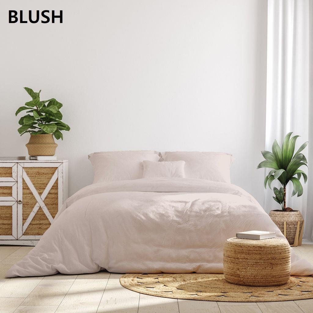 Royal Comfort 1000TC Hotel Grade Bamboo Cotton Sheets Pillowcases Set Ultrasoft - Double - Blush