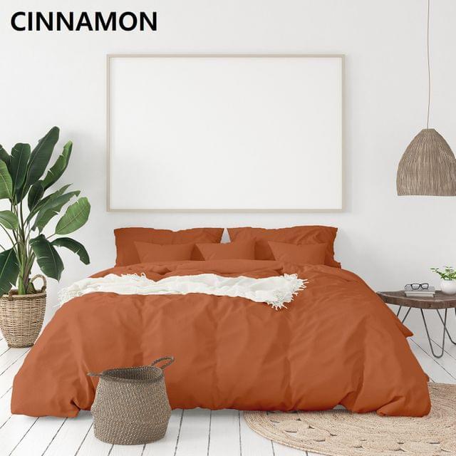 Royal Comfort 1000TC Hotel Grade Bamboo Cotton Sheets Pillowcases Set Ultrasoft - Queen - Cinnamon