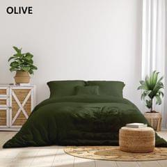 (QUEEN)Royal Comfort 1000TC Hotel Grade Bamboo Cotton Sheets Pillowcases Set Ultrasoft - Queen - Olive