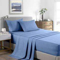(KING)Casa Decor 2000 Thread Count Bamboo Cooling Sheet Set Ultra Soft Bedding - King - Denim