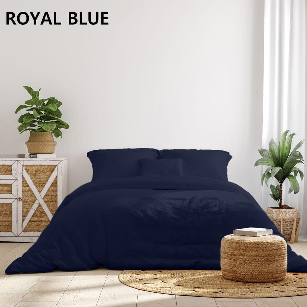 (QUEEN)Royal Comfort 1000TC Hotel Grade Bamboo Cotton Sheets Pillowcases Set Ultrasoft - Queen - Royal Blue