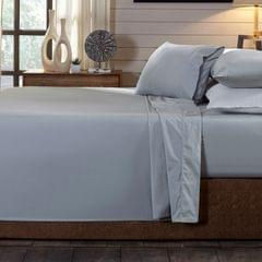 (DOUBLE)Royal Comfort 250TC Organic 100% Cotton Sheet Set 4 Piece Luxury Hotel Style - Double - Graphite