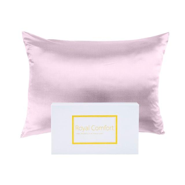 Royal Comfort Pure Silk Pillow Case 100% Mulberry Silk Hypoallergenic Pillowcase - Lilac