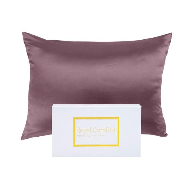 Royal Comfort Pure Silk Pillow Case 100% Mulberry Silk Hypoallergenic Pillowcase - Malaga Wine