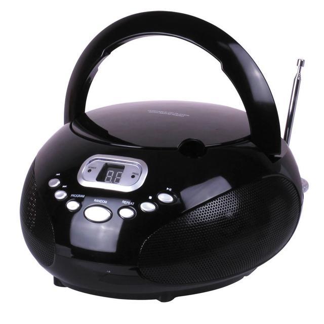 CD BOOMBOX WITH AM/FM Radio BLACK