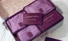 Jet Set 6PC Travel Organiser Set - Burgundy