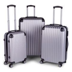 Milano Slim Line Luggage  - Silver 3pc Set