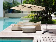 Milano Outdoor - Outdoor 3 Meter Hanging and Folding Umbrella - Beige