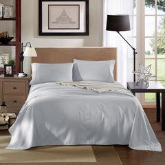 Kensington 1200TC Ultra Soft 100% Egyptian Cotton Sheet set in Stripe Mega King- Silver (Grey)