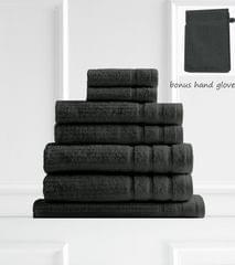 Royal Comfort Eden 600GSM 100% Egyptian Cotton 8 Piece Towel Pack - Granite