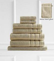 Royal Comfort Eden 600GSM 100% Egyptian Cotton 8 Piece Towel Pack - Beige