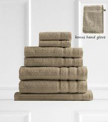 Royal Comfort Eden 600GSM 100% Egyptian Cotton 8 Piece Towel Pack - Champagne Rose