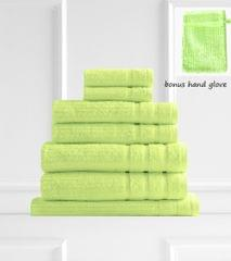 Royal Comfort Eden 600GSM 100% Egyptian Cotton 8 Piece Towel Pack - Spearmint