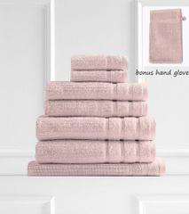 Royal Comfort Eden 600GSM 100% Egyptian Cotton 8 Piece Towel Pack - Blush
