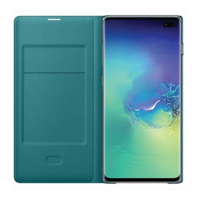 Samsung Galaxy S10+ Plus LED View Wallet Cover - Green