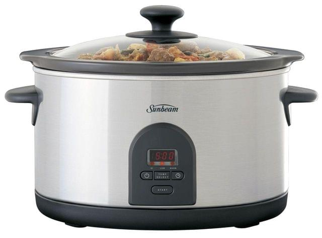 SUNBEAM 5.5L SecretChef Electronic Slow Cooker - Stainless Steel